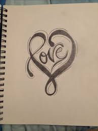 sweet heart pencil sketch clipart