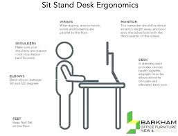 Ergonomic Standing Desk Setup Computer Desk Ergonomics Measurements Deskscapes