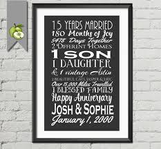 15th wedding anniversary gift 15th wedding anniversary subway print printable 15th