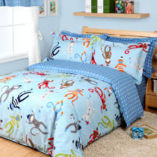 Amazon Duvet Sets Amazon Com Cartoon Monkey Duvet Cover Set Sky Blue Boys Bedding