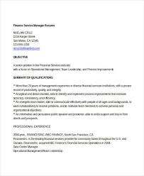Finance Manager Resume Sample by Basic Finance Resume 44 Free Word Pdf Documents Download