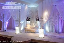 wedding venue backdrop stage decor