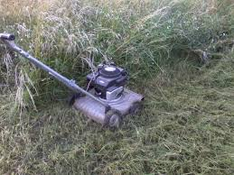 push mowing 5 u0027 tall grass weeds