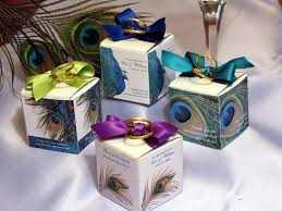 peacock wedding favors peacock wedding favor boxes 2 inch square pavia party favors