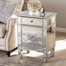 type mirrored nightstand home goods u2014 new home design mirrored