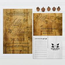 vineyard wedding invitations carved wood look wedding invitations budget invitation