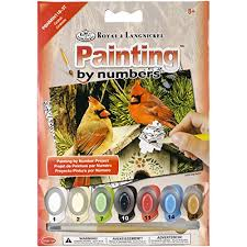 cardinal paint by number kits kritters in the mailbox animal gifts