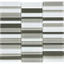 shop allen roth city links mosaic glass wall tile common 12 in