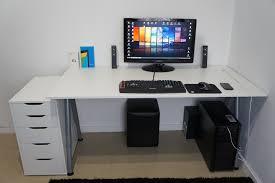 Ikea Gaming Desk Ikea Computer Desk Setup Ayresmarcus