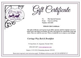 gift certificates bed and breakfast st augustine gift certificate hotels in st