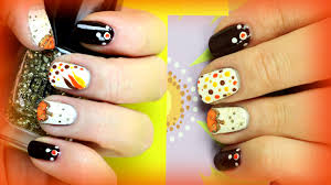 2 thanksgiving nail designs for beginners diy easy fall nails