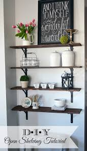 diy kitchen shelves how to build open stained shelves 11 magnolia lane