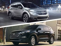 hyundai tucson or honda crv 2017 honda cr v vs 2017 hyundai tucson which is best autobytel com