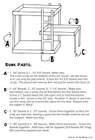 bunk bed plans pdf bed plans diy u0026 blueprints