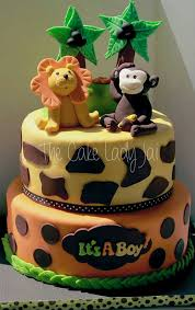 safari cakes for baby shower party xyz