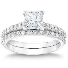 princess cut wedding set princess cut 3 66 ctw vvs1 clarity i color diamond platinum