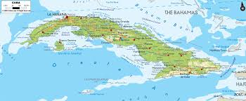 United States Map With Rivers Lakes And Mountains by Physical Map Of Cuba Ezilon Maps