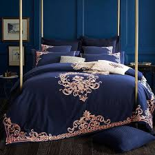 Royal Bedding Sets Embroidered Luxury Royal Bedding Set 60s Cotton Silky 4