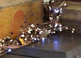 primitive pip berry dimensional led light garland