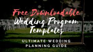 downloadable wedding programs free wedding program templates wedding program ideas