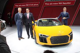 lamborghini ceo stephan winkelmann audi unveiled a r8 at the new york auto show business