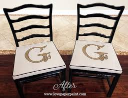 monogrammed chair cushions love paper paint