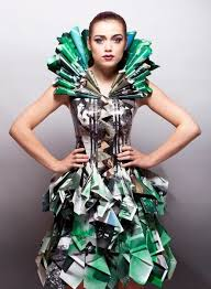 246 best recycled art clothes images on pinterest paper dresses
