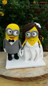 asian hand ring holder images Minions wedding cake topper clay doll minion in suit clay jpg
