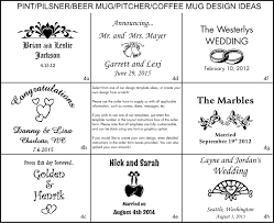 wedding engravings engraved clear coffee mugs personalized wedding gifts