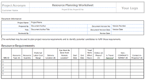 Resource Planning Template Excel Silver Package Templates Project Management Templates