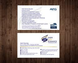 Home Design Credit Card Elegant Playful Business Card Design For Sain Aus Finance By