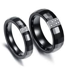 black wedding bands for him and ring set mm black tungsten diamond wedding band him in