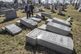cemetery headstones nearly 100 headstones toppled at cemetery in philly