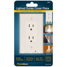 wall plate with built in night light toolsmithdirect rakuten powerglow wall outlet plate 3 led night