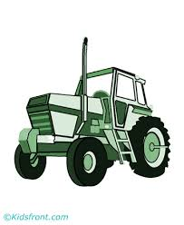 tractor coloring pages kids color print