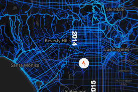 Map Of Beverly Hills Los Angeles by Pretty Maps Reveal Los Angeles U0027s Favorite Places To Walk And Bike