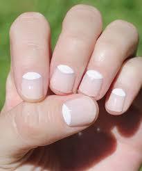 white nails white half moon nails to you look summer nail