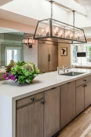 gregorius pineo vassaro chandelier caesarstone sausalito kitchen