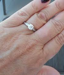 size 6 engagement ring size 6 finger what size carat feeling mixed up about my
