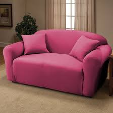 pink jersey loveseat stretch slipcover couch cover furniture