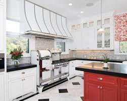 Kitchen Charming Black And White Tile Kitchen Backsplash Black - Black and white kitchen backsplash