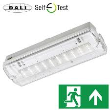 Elp Lighting Axiom Ip65 Led Bulkhead Exit Sign Emergency Lighting Products Ltd
