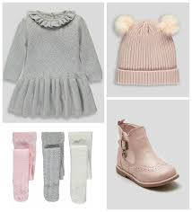 stylebaby kids soft grey knits and dusty pink accessories at