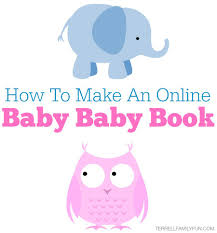 baby books online how to make an online baby book with blinkbuggy