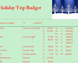 Travel Budget Template Excel Travel Budget My Excel Templates
