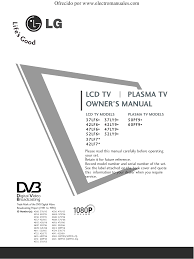 download free pdf for lg 37lf66 tv manual