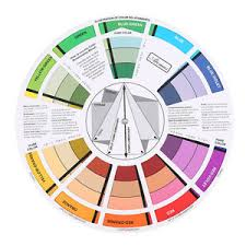color selection portable pocket color wheel painting mixing guide tool for color