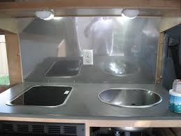 Stainless Steel Caravan Slide Out Kitchen 2 Drawers Sink Bench The Rv Remodel
