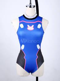 blue jumpsuit costume overwatch d va swimsuit costume blue jumpsuit