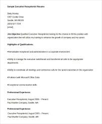 Receptionist Resume Templates Receptionist Resume Example 9 Free Word Pdf Documents Download